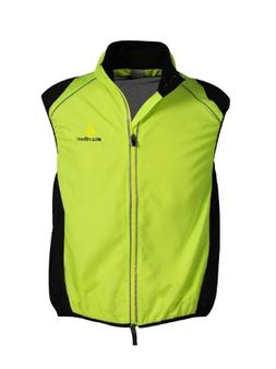 WOLFBIKE Cycling Vest Jersey for Men Sleeveless, Green, Size