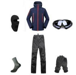 E101 Men Ski Snowboard Jacket Pants Gloves Goggles Balaclava