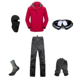D108 Men Ski Snowboard Jacket Pants Gloves Goggles Balaclava