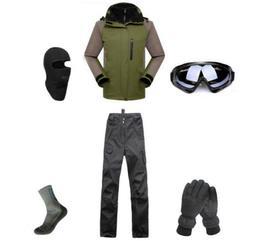 D11 Men Ski Snowboard Jacket Pants Gloves Goggles Balaclava