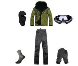 D15 Men Ski Snowboard Jacket Pants Gloves Goggles Balaclava