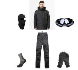 D45 Men Ski Snowboard Jacket Pants Gloves Goggles Balaclava