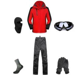 D46 Men Ski Snowboard Jacket Pants Gloves Goggles Balaclava