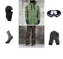 D61 Men Ski Snowboard Jacket Pants Gloves Goggles Balaclava