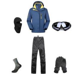 D69 Men Ski Snowboard Jacket Pants Gloves Goggles Balaclava