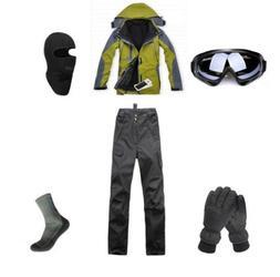 D87 Men Ski Snowboard Jacket Pants Gloves Goggles Balaclava