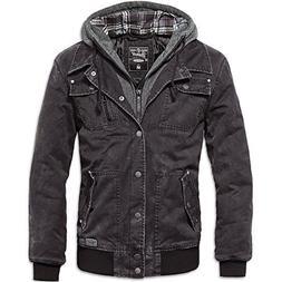 Brandit Men's Dayton Jacket Black Washed Size L