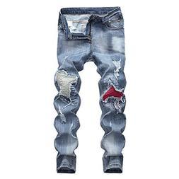YOcheerful Deals Mens Jean Pants Autumn Denim Pant Trousers