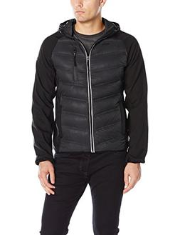 FOG by London Fog Men's Down Filled Hooded Jacket with Ragan