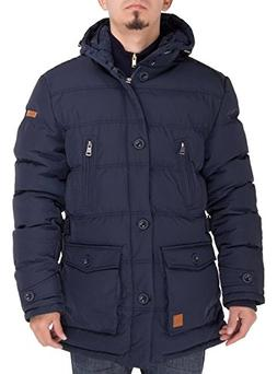 Luciano Natazzi Men's Down Jacket Thermal Padded Classic Oxf