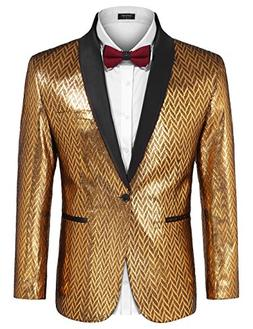 COOFANDY Mens Fashion Dress Suit Jacket Slim Fit Casual One