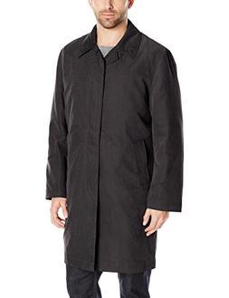 London Fog Men's Durham Rain Coat with Zip-Out Body, Black,