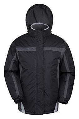 Mountain Warehouse Mens Dusk Snowproof Hooded Fleece Lined S