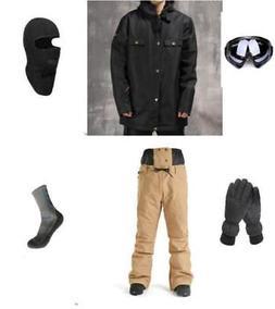 E25 Men Ski Snowboard Jacket Pants Gloves Goggles Balaclava
