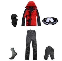 E50 Men Ski Snowboard Jacket Pants Gloves Goggles Balaclava