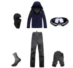 E55 Men Ski Snowboard Jacket Pants Gloves Goggles Balaclava