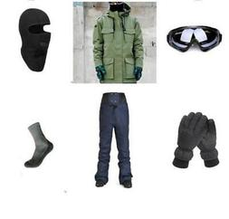 D65 Men Ski Snowboard Jacket Pants Gloves Goggles Balaclava