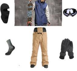 E84 Men Ski Snowboard Jacket Pants Gloves Goggles Balaclava