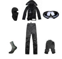 E85 Men Ski Snowboard Jacket Pants Gloves Goggles Balaclava