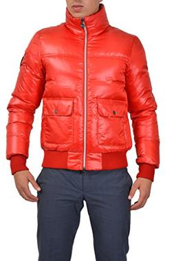 Emporio Armani EA7 Men's Red Full Zip Down Parka Jacket US L