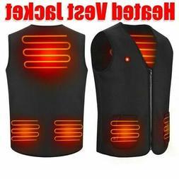 Electric USB Heated Vest Jacket Coat Winter Body Warmer Vest