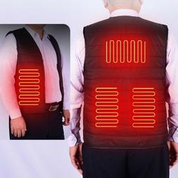 Electric USB Heated Vest Unisex Warm Winter Riding Skiing He
