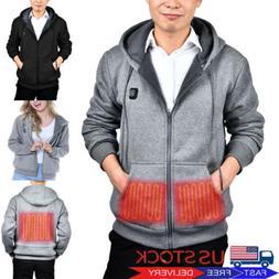 Electric USB Heated Warm Coat Women Men Heating Hoodies Jack