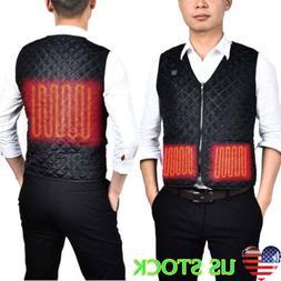 Electric USB Heated Warm Vest Men Boy Heating Coat Jacket Wi