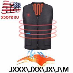 Electric USB Heated Warm Vest Men Heating Coat Jacket Clothi
