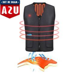 Electric USB Heated Warm Vest Men Women Heating Coat Jacket