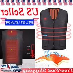 Electric USB Heated Warm Vest Men Women Heating Coat Jacket