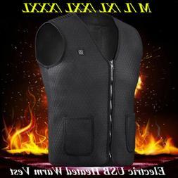 Electric USB Heated Warm Vest Men Womens Heating Coat Jacket