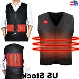 Electric USB Heated Winter Warm Vest Men Heating Coat Jacket