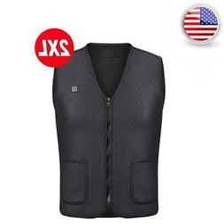 Electric USB Heating Vest Men Women Heated Warm Coat Jacket