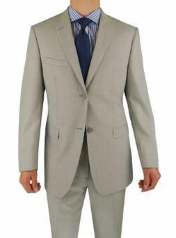 Marzzotti Eleganz Sharkskin 2 Button Men's Suit Trim Modern
