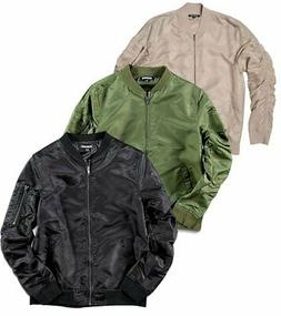 Elwood Nylon Bomber Zip Jacket Mens