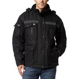 Caterpillar Men's Heavy Insulated Parka Jacket Black Size La