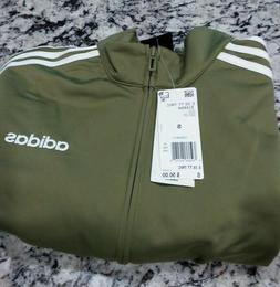 ADIDAS ESSENTIALS 3-STRIPES TRICOT TRACK JACKET MENS SMALL N