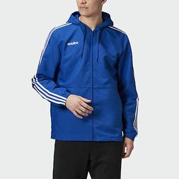 essentials 3 stripes woven windbreaker men s