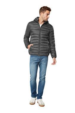 9 Crowns Essentials Men's Lightweight Puffer Jacket-Gray-2XL