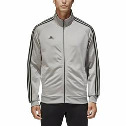 adidas Essentials Track Jacket Top Tricot Solid Grey Black 3