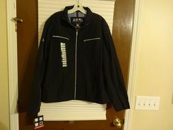 F.O.G. London Fog Men's Packable Light Weight Rain Jacket Bl