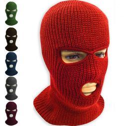 Face Mask Ski Mask Winter Cap 3 Hole Balaclava Beanie Hat Ho