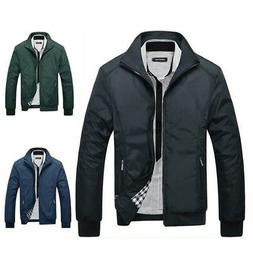 Fashion Men Casual Jacket Winter Warm Baseball Coat Slim Out