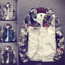 Fashion Men's Casual Camo Thin Hooded Jacket Wind Breaker Sp