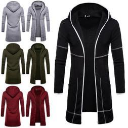 Fashion Men's Wool Coat Winter Trench Coat Outwear Overcoat