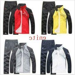 Fashion Mens Jacket Pants tracksuit Sport Spring Activewear