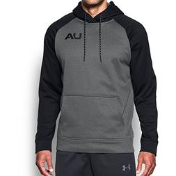 Under Armour Men's Fleece Color Block Hoodie, Carbon Heather