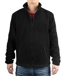 iLoveSIA Men's Fleece Casual Classic Warm Full Zip Jacket US