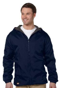 Dickies Fleece-Lined Hooded Jacket in Navy - X-Large